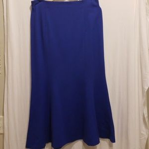 Royal Blue Long Fitted Fin Tale Skirt